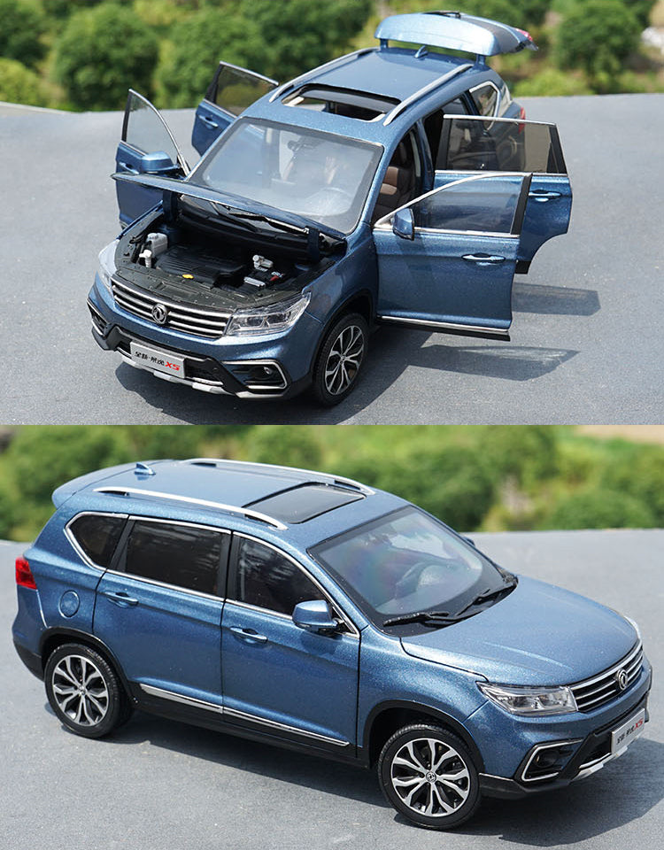 White/Blue  1:18 Dongfeng fengxing Fxauto Joyear X5 Jingyi X5 diecast car model  for gift, collection
