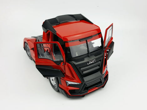 Exquisite Original diecast gift 1:24 Scale JMC Racing Truck Tractor Trailer Vehicles DieCast Toy Model For Christmas birthday gift