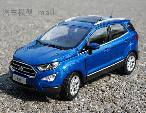 Collectiable toy vehicle model for 1:18 FORD ECOSPORT 2018 brand new blue diecast car model