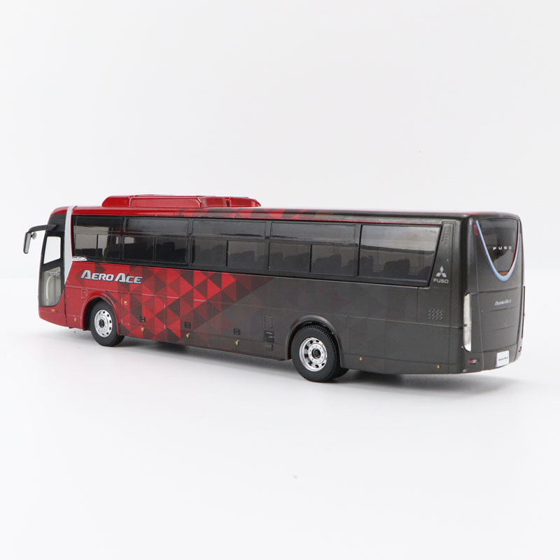 Original factory diecast 1:43 Mitsubishi FUSO AERO ACE BUS models, Alloy tour double-deck bus model for gift,collection
