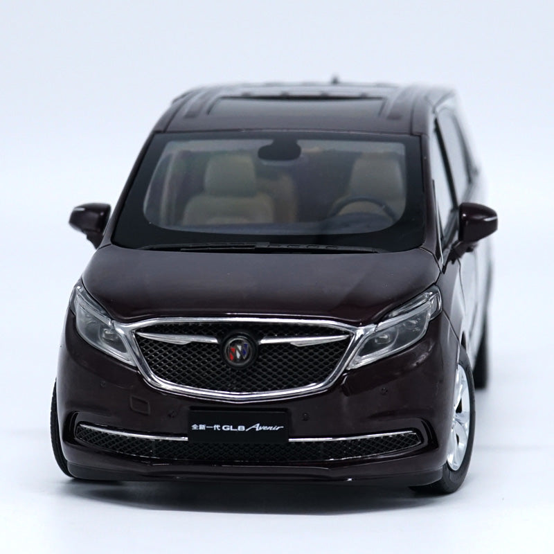 1:18 GMC Buick GL8 Business Concept Car Diecast Mpv Car Model Black