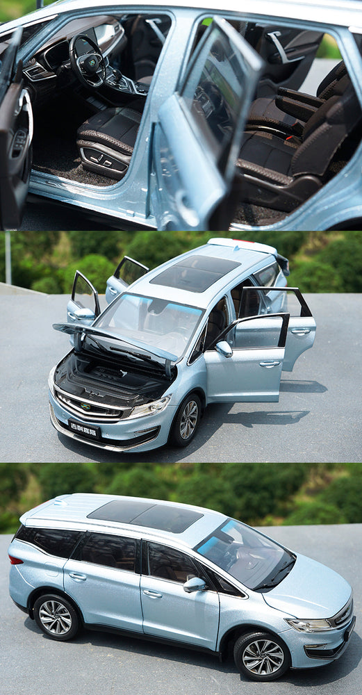 hite/Silver/blue 1:18 GEELY JIAJI MPV diecast Car Model Collectiable Toy Car Miniature model of Children's toy vehicle Gift