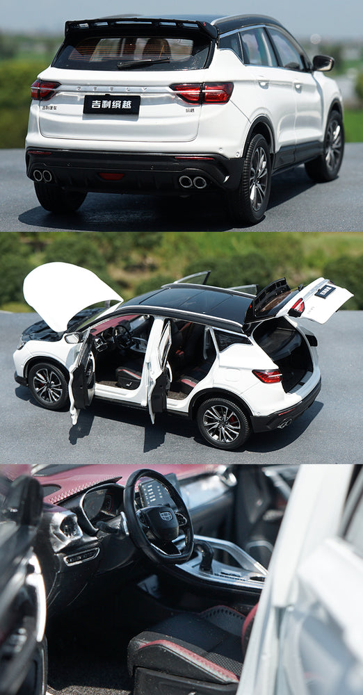 Classic Authorized Authentic 1::18 Geely bin yue battle diecast scale car model with small gift