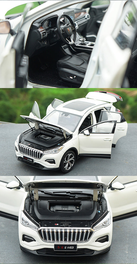 Alloy Toy Vehicles 1:18 scale hongqi E-HS3 Diecast SUV Car Model Of Children's Toy Car Kids Toys