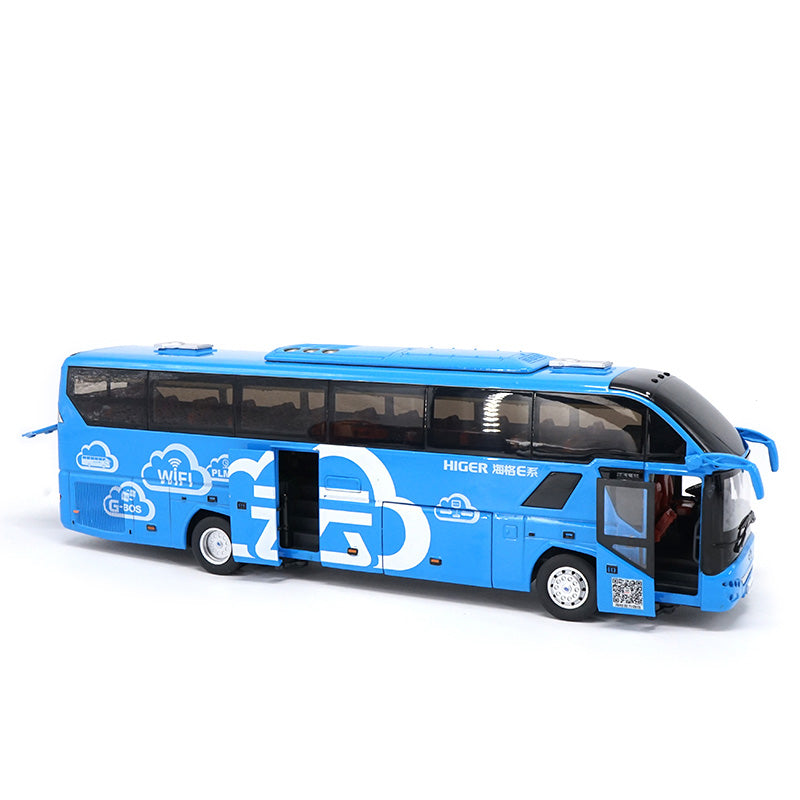 Higer 1:42 China Gold Dragon KLQ6125B H92 Travel Bus Die Cast Model with small gift
