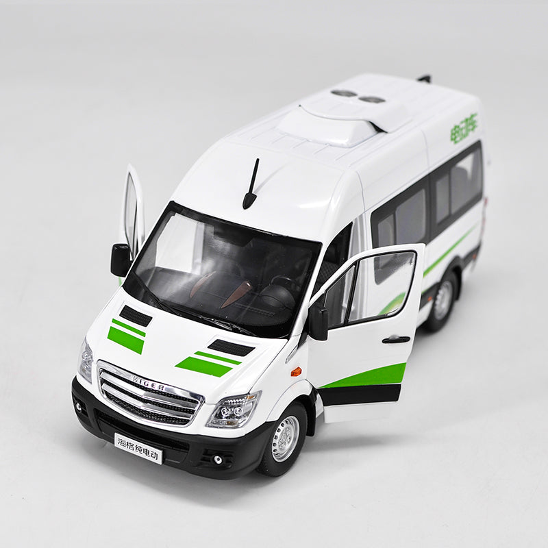 1:24 Higher pure electric commercial vehicles van die cast model with small gift