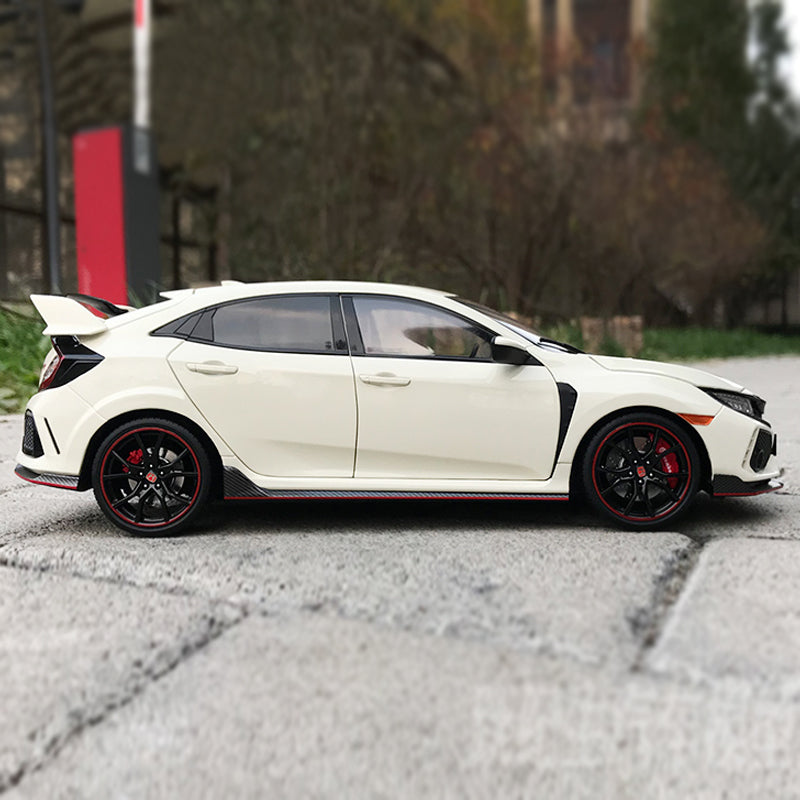 High Quality 1/18 Honda Civic TYPE R FK8 Japanese sports car alloy car model with small gift