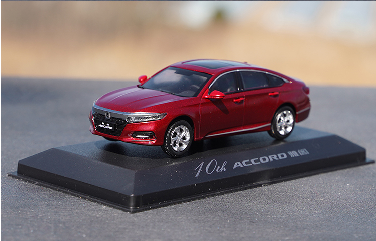 Original 1:43 GAC 9th 10th generation Honda Accord diecast alloy car model for toys, gift