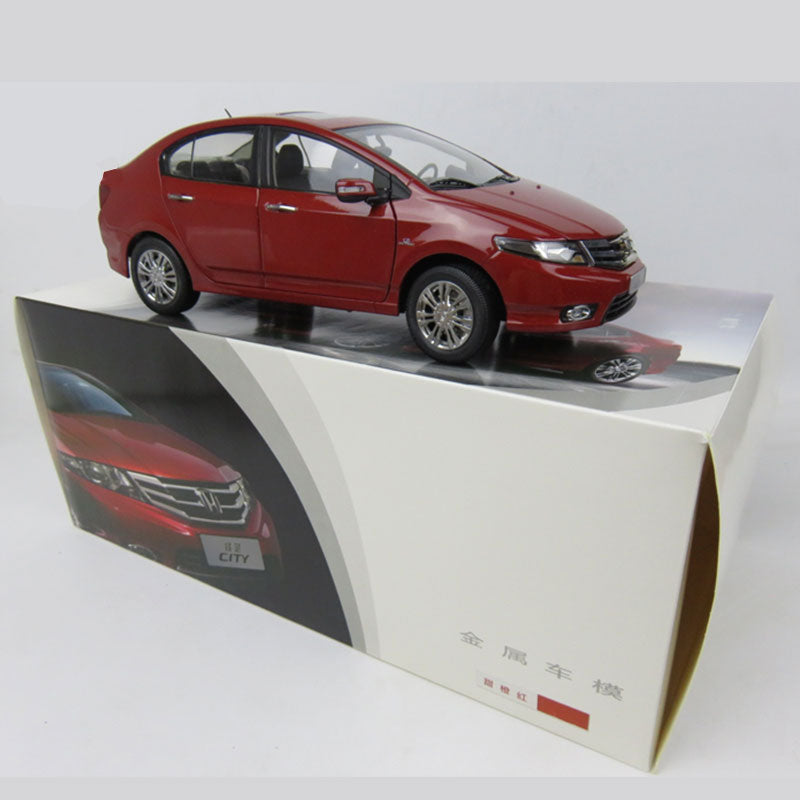 Original factory collectible 1:18 HONDA CITY diecast scale car model for gift, collection