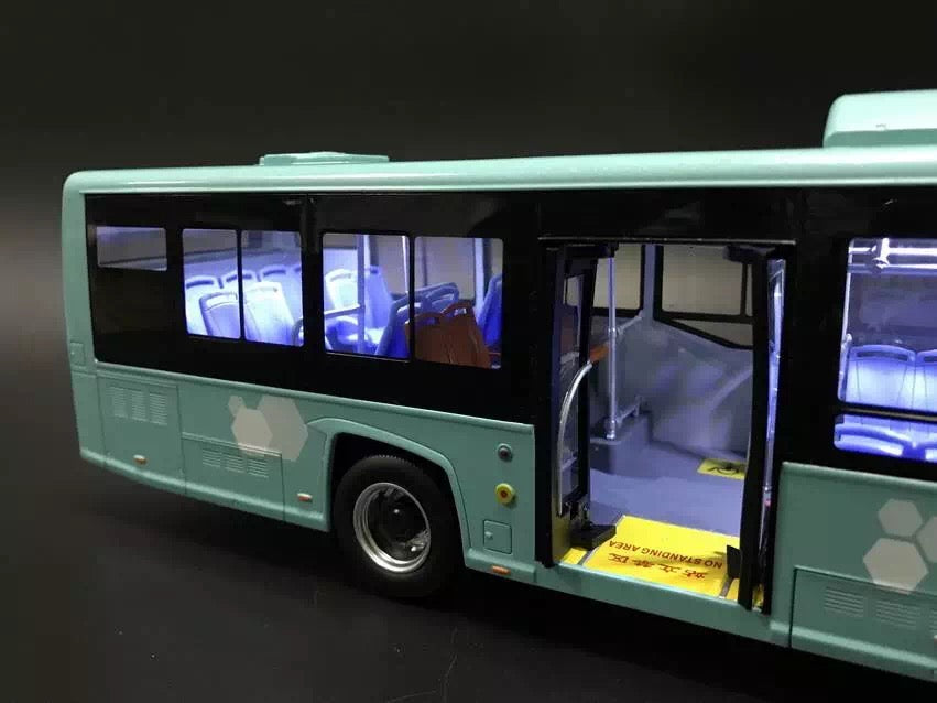 high quality 1:32 Diecast Changjiang E-zone bus model with lamp