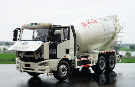 Original factory authentic 1:24 FAW Jiefang J6 diecast concrete mixer truck model for gift