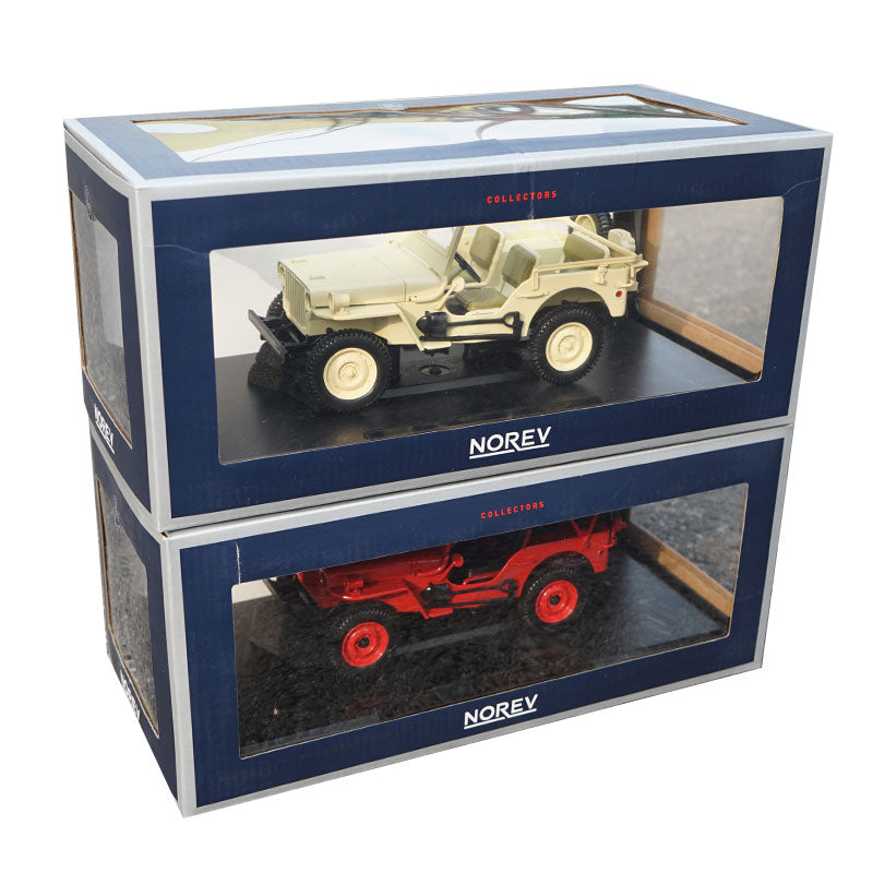 Original factory high quality NOREV 1:18 Jeep Willis 1924 zinc alloy metal diecast car model for gift, collection