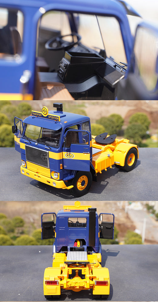 Original factory 1:18 KK Volvo F88 Diecast tractor truck model for collection, promotional gift