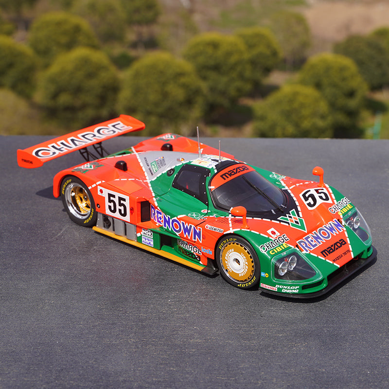 Original Aunthentic 1:18 IXO Mazda 787B 55# 1991 Le Mans 24H diecast rally car simulation alloy car model for collection, toy