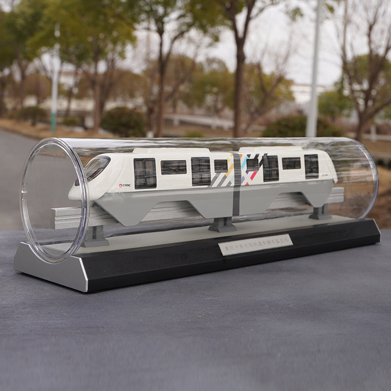 Original factory Chongqing CRRC New generation straddle monorail 1:68 Diecast train subway models for collection