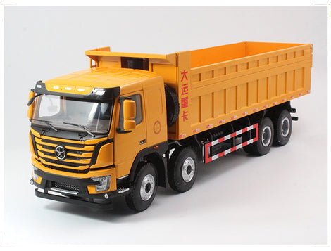 Large scale Dayun N8V dump truck model, 1:24 Zinc Alloy Heavy duty Dump truck model for sale