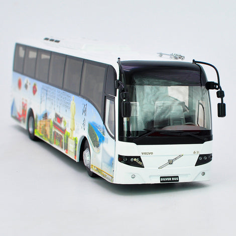 1:42/1:43 Volvo 9300 silver diecast bus models