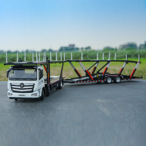 1:36 Classic diecast Foton Daimler Auman Mid-Axle GTL Car Carrier/car transporter Model