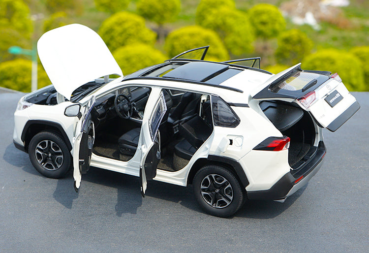 Original factory collectible 1:18 FAW Toyota brand new RAV4 2019 model diecast scale SUV car model for promotional gift