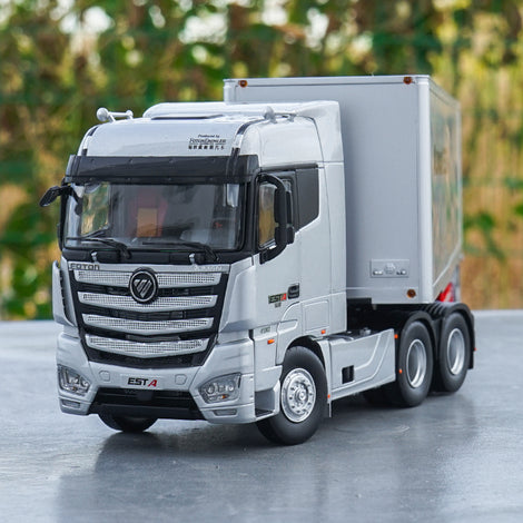 1 36 Foton Auman Est-a Container Truck Tractor Diecast Toy Model Collection White