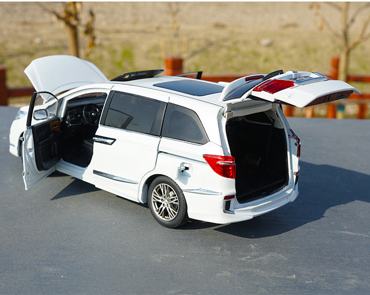 ORIGINAL Brown/White 1:18 Scale Honda MPV Elysion 2016 Diecast Car Model with small gift
