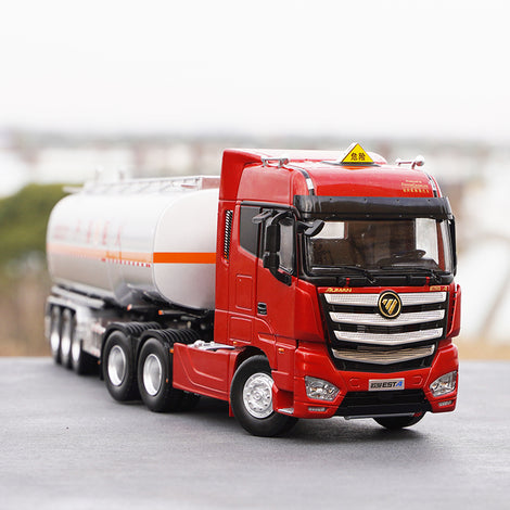 Original factory 1:36 Foton Ouman EST-A diecast oil tank model alloy container tank truck model for gift