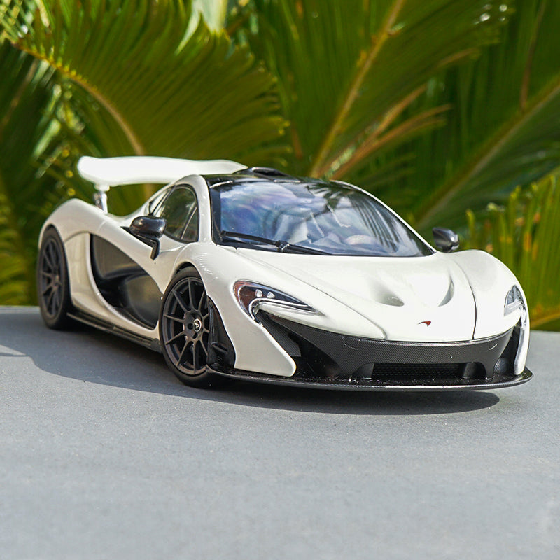 Original 1:18 Scale Diecast Model McLaren P1 Replica Car Models Roadster with small gift