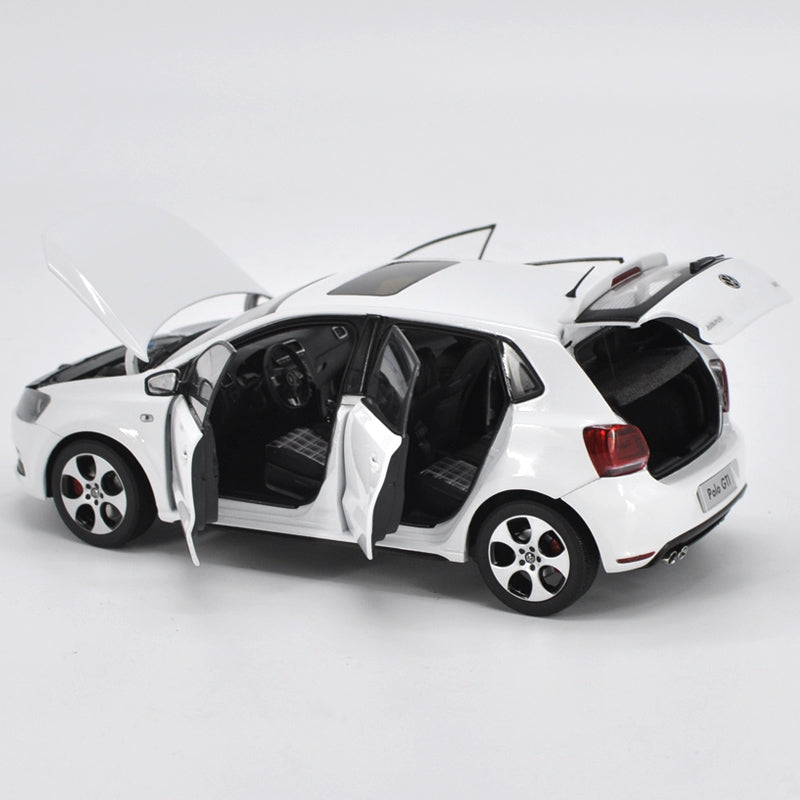 Original Authorized Authentic 1/18 Alloy New Polo GTI 2013 White Model Toy Cars Diecast Metal Casting Hatchback Miniature Collection Toys Car for gift,collection