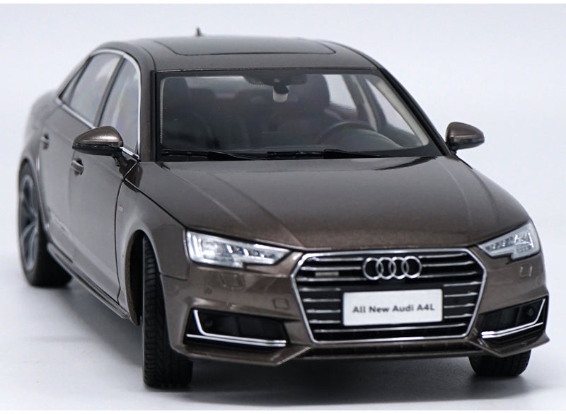 Original Authorized Authentic 1:18 Audi A4L 2017 Diecast ModelAlloy Toy Car Miniature for christmas/Birthday gift, collection