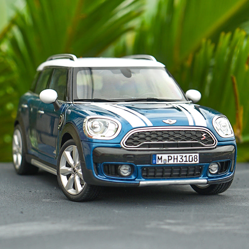 Original Authorized Authentic 1:18 mini cooper S countryman Diecast collectible Island BlueClassic toy models for christmas/Birthday gift, collection
