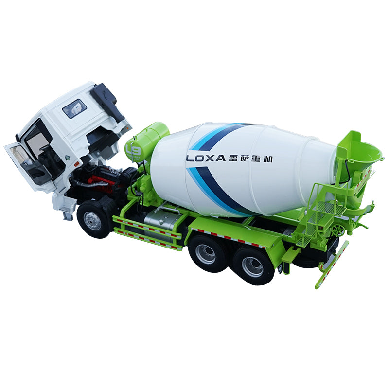 Original Authorized Authentic  1 24 Scale Foton Auman EST LOXA L9 Concrete Mixer Truck Engineering Machinery DieCast Toy Model for Christmas gift,collection