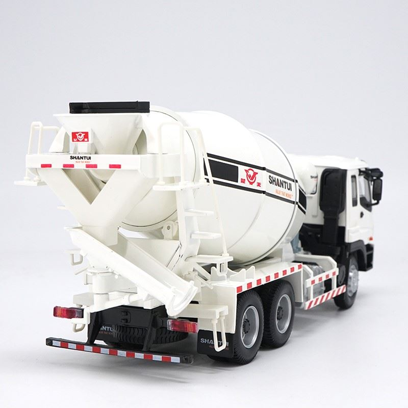 Original Authorized Authentic 1/35 ISUZU SHANTUI CHINA Concrete Mixer Truck Diecast toy mixer Model for Christmas gift,collection