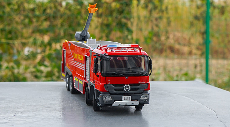 Original Authorized Authentic 1:50 Benz ACTROS Jieda Foam City Fire Truck City Rescue Vehicles Diecast Toy Model for Christmas gift,collection