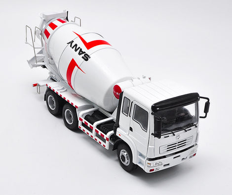 Original Authorized Authentic Diecast 1:35 Scale Sany Concrete Mixer Truck onstruction machinery diecast mixer truck model for Christmas gift,collection