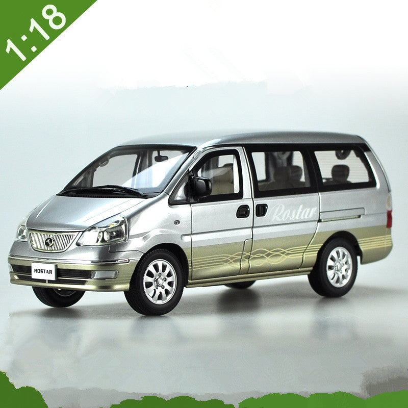 Original Authorized factory 1:18 golden dragon Jinrui ROSTAR MPV Car Model, Classic toy car model bus Models for gift
