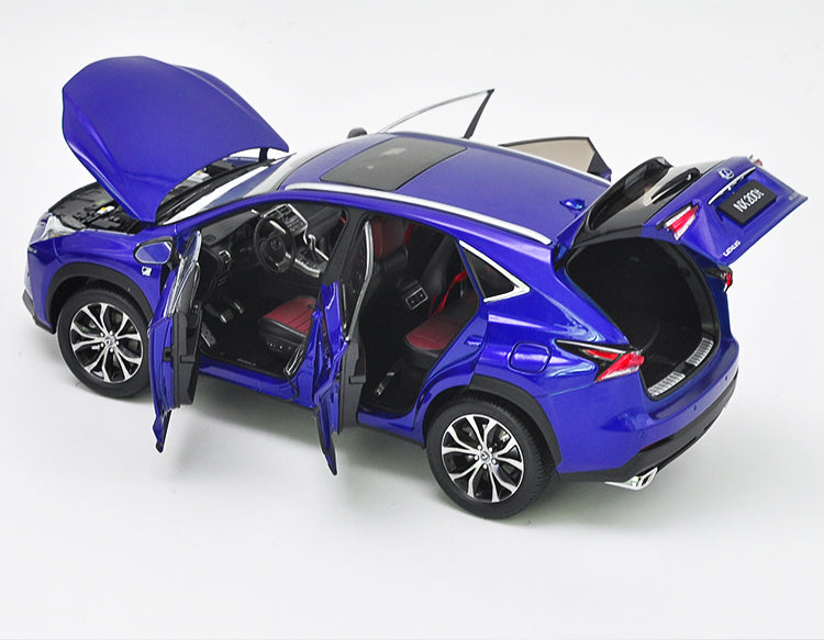 Original Authorized factory diecast 1:18 LEXUS NX NX200T Car Model, Classic metal toy suv car models for gift, collection