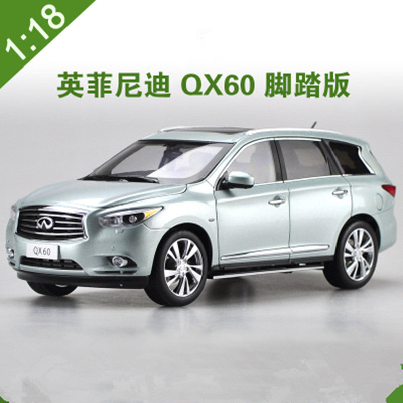 Original Authorized factory diecast 2014 1:18 Infiniti QX60 SUV off-road vehicle Classic toy car Models for gift, collection