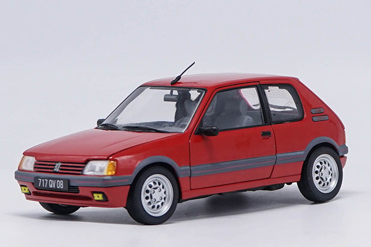 Original factory 1:18 1991 GTI PEUGEOT 205 Red Alloy metal Diecast Car classic Model For Adult Birthday/christmas gifts, collection