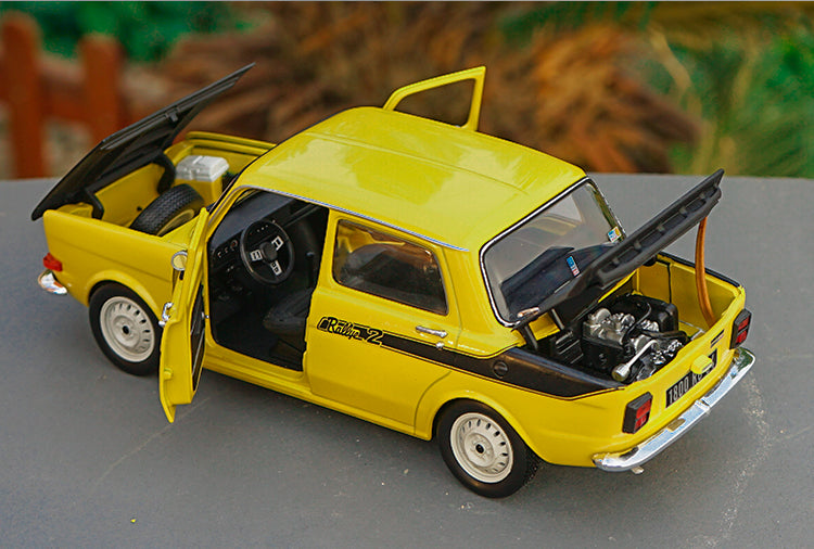 Original factory 1:18 Norev Simca 1000 Rallye 2 SRT Diecast Car Model with small gift