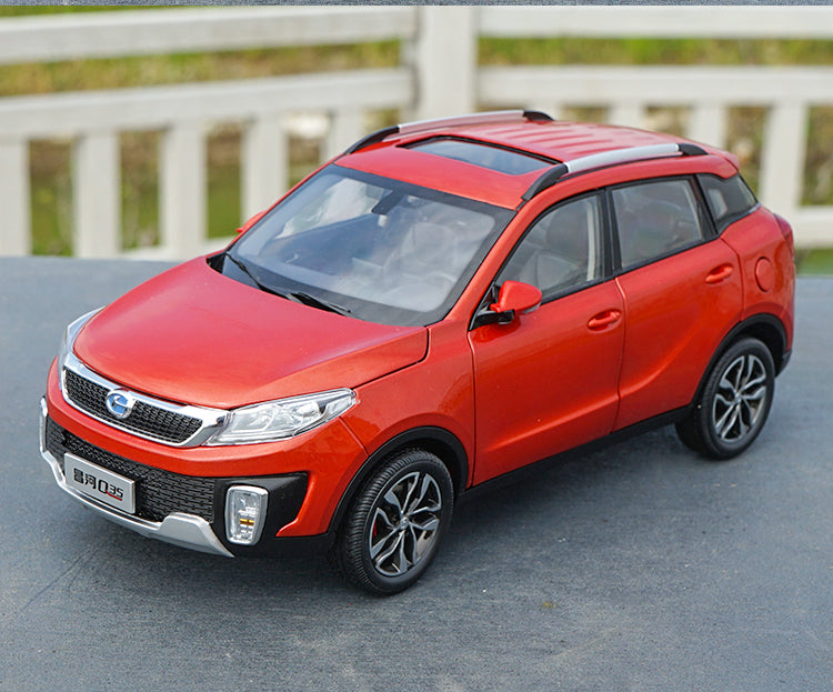 Original factory 1:18 Scale BAW Changhe Q35 SUV Diecast car model with small gift