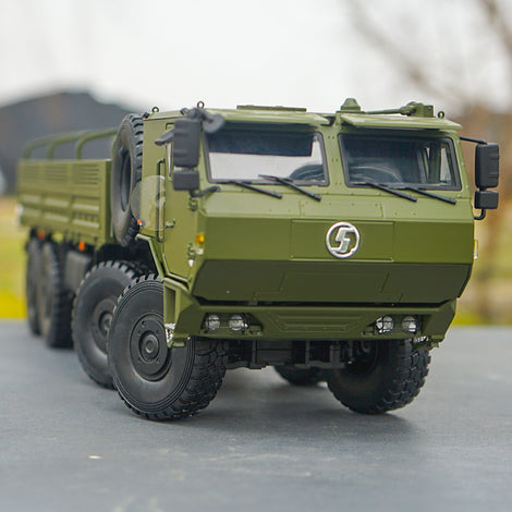 Original factory diecast 1:24 Shanqi Delong SX2306 off-road Army truck transport vehicle model, diecast military truck model for gift