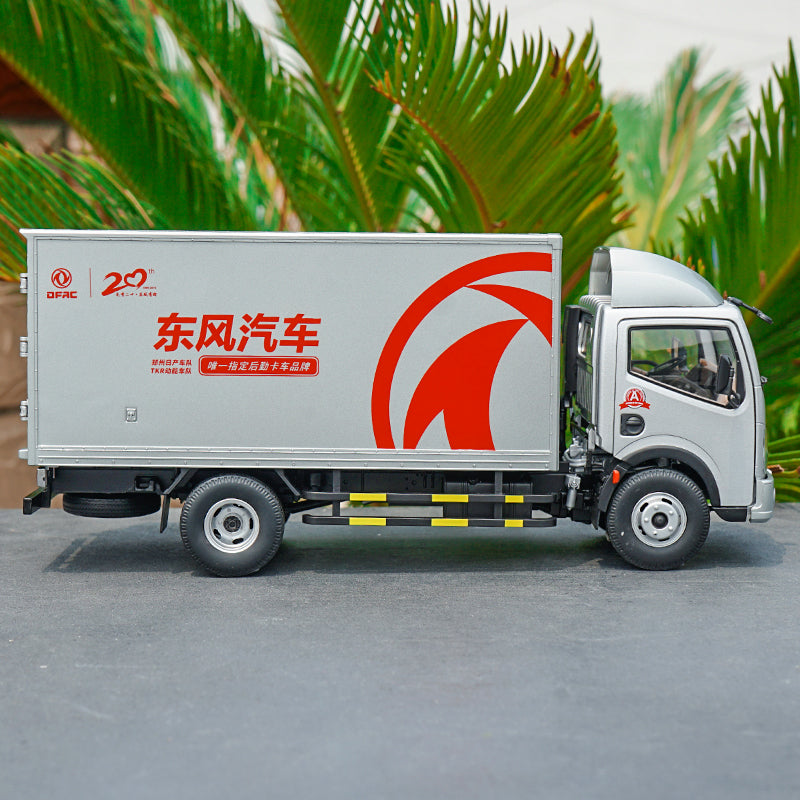 Original metal 1/24 DFAC captain container truck model, zinc alloy light truck model for collection