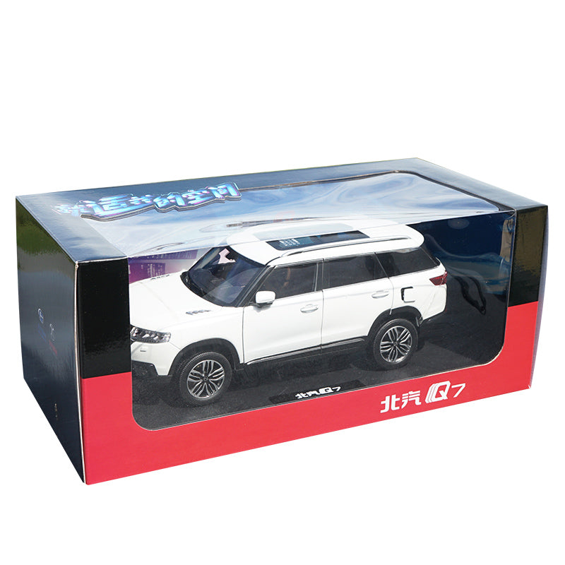 High quality collectiable 1:18 Baic Changhe Q7 off road diecast SUV car model for gift, collection