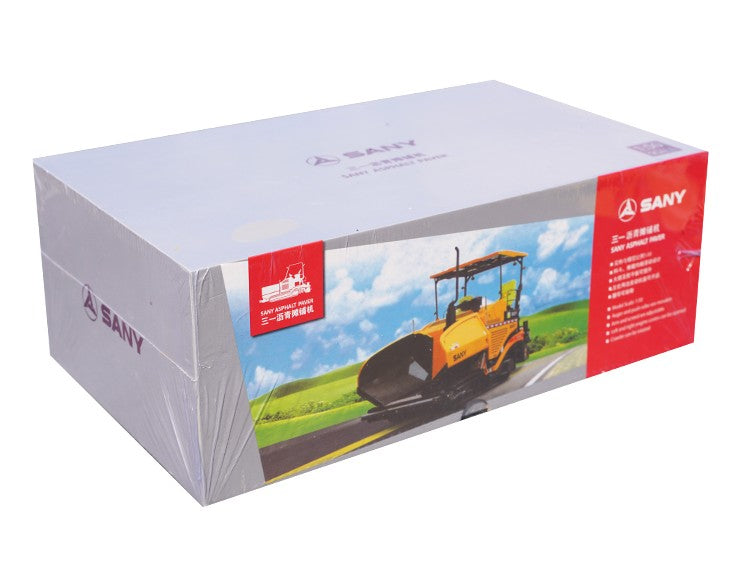 Original factory SANY 1:50 Metal alloy diecast asphalt road paver model for gift, collection