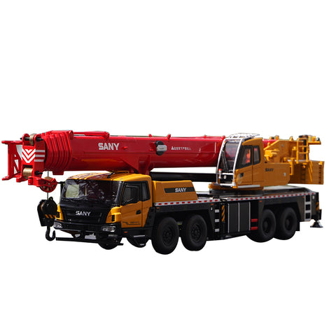 Original factory 1:36 Large Diecast STC800T6 80ton Truck Crane model, Large 80ton mobile truck crane model for collection, gift