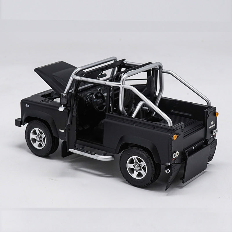 1/18 Land Rover Defender SVX Pickup Truck Diecast Car Suv Model Black