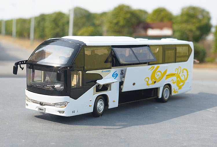 Original factory authentic 1:42 Yutong Suqi Speed bus 6128 diecast scale bus models for Birthday/Christmas gift