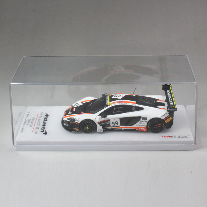 1:43 650S GT3 59# Mclaren Spa 24Hours 2016 Supercar resin models, TSM resin car model