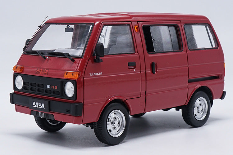 1/18 Die cast Tianjin DAFA HUALI TJ110 ( DAIHATSU ) van Taxi wagon model Red version