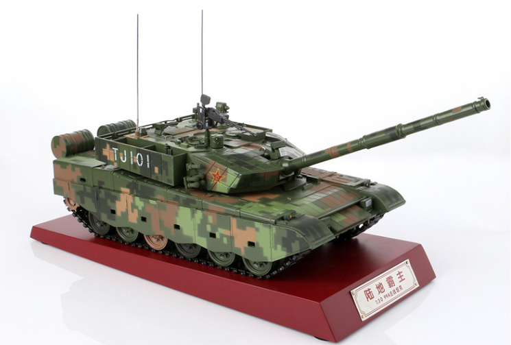 Original factory 1:30 Diecast 99A China Main battale armored metal tank model alloy simulation 99 crawler type veterans tank for gift, collection